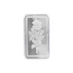 Rose Flower 25 Gms 999 Purity Silver Bar