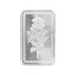 15 Grams 999 Purity Rose Flower Silver Bar-15-SL2287