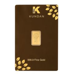 1 Grams 999 Purity Kalpataru Kundan Gold Bar-1GKALPATARUGOLDBAR
