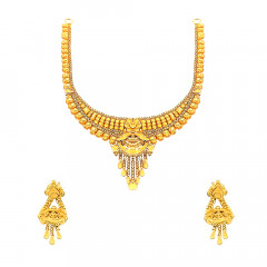 Traditional Floral Paisley Wedding Yellow Gold 22kt Sets -181-ST221314