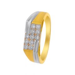 Stylish Cluster Cutout Diamond Ring For Him
