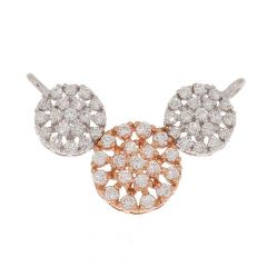Sparkling Prong Set Blossom Floral Design Two Tone Diamond Tanmaniya