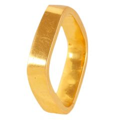 22kt Gold Plaing Band Square Ring - 21551