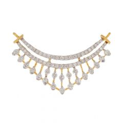 Sparkling Pave Prong Set Drop Design Diamond Tanmaniya