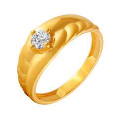 Stylish Single CZ Diamond Ring For Him