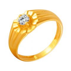 Divine Single CZ Diamond Ring For Him
