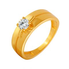 Awesome Single CZ Diamond Ring For Him