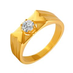 Alluring Single CZ Diamond Ring For Him