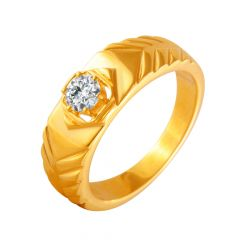 Winsom Textured CZ Diamond Ring For Him