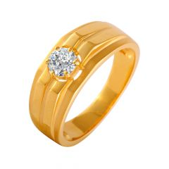 Heavenly Single CZ Diamond Ring For Him