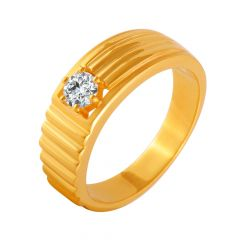 Engaging Textured CZ Diamond Ring For Him