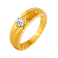 Charming Delight Single CZ Diamond Ring For Him