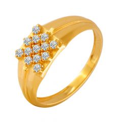 Ravishing Crisscross CZ Diamond Ring For Him