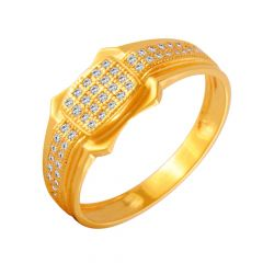 Grace Geometric Cluster CZ Diamond Ring For Him