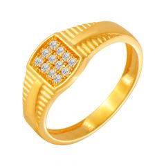 Glitz Cluster CZ Diamond Ring For Him