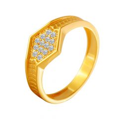 Valorous Cluster CZ Diamond Ring For Him
