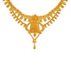 Wondrous Traditional Gold Necklace