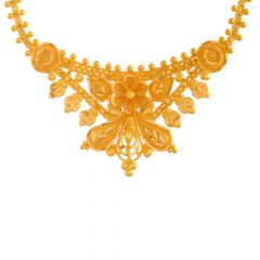 Ceremoinal Traditional Floral Gold Necklace