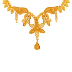 Traditional Cutout Gold Necklace