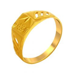 Traditional Cutout Gold Ring