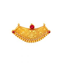 Ceremonial Textured Lakshmi Gemstone Gold Tanmaniya
