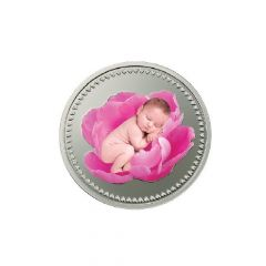 Baby Pink 10 Gms 999 Purity Silver Coin