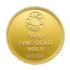 10 Gms 999 Purity MMTC Lotus Fine Gold Coin