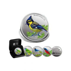 MMTC Pamp 124.4 Gms 999 Bird Series Coin Set Of 4