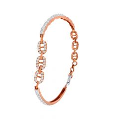 Stylish Diamond Link Bangle Bracelet
