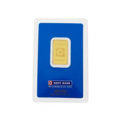 10 Grams 999 Purity HDFC Bank Gold Bar-24K10G