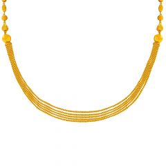Traditional Layered Chain Gold Necklace