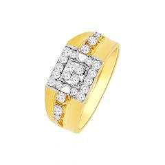 Classy Cluster Diamond Ring For Him