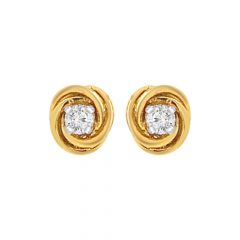 Elegant Single Diamond Earrings