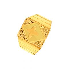 Classy Embossed Gold Ring For Him