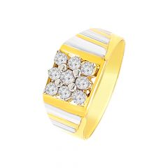 Glitter Nine Diamond Gold Ring For Him