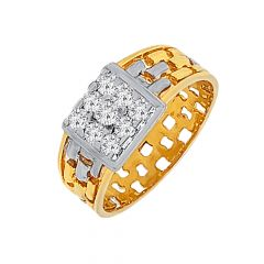 Dazzle Cluster Cutout Diamond Ring For Him