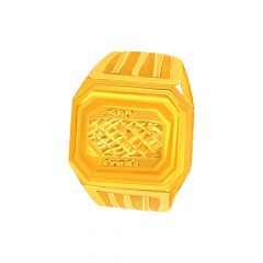 Classic Textured Gold Ring For Him
