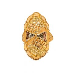 Classic Textured Embossed Gold Ring