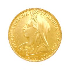 Queen Victorica 8 Gms 916 Purity Gold Coin