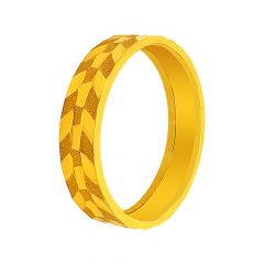 Delicate Textured Gold Band