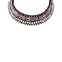 Classy Oxidized Silver Thushi Necklace