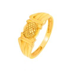 Delicate Textured Gold Ring For Him