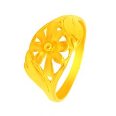 Delicate Floral Gold Ring