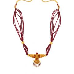 Traditional Textured Gemstone Chinchapeti Chocker Necklace