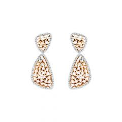 Alluring Cluster Diamond Rose Gold Earring