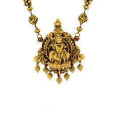 Auspicious Lord Krishna Antique Gold Necklace