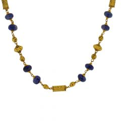 Traditional Blue Sapphire Gold  Necklace