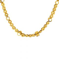 Delicated Traditional Cutout Gold Necklace