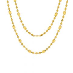 Traditional Bead Ball Gold Necklace