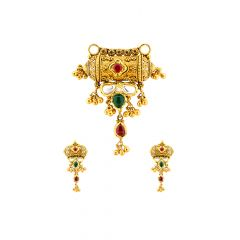 Eternal Embossed Enamel Gemstone Gold Tanmaniya Set